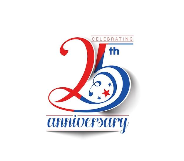 25 lat rocznica celebracja wektor wzór.