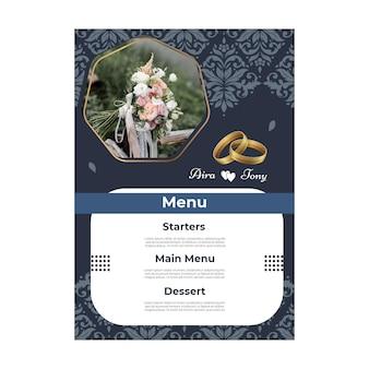 25 lat rocznica ślubu szablon menu pionowego