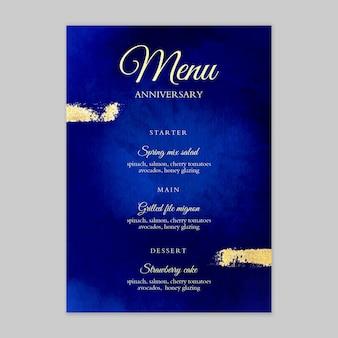 25-lecie menu