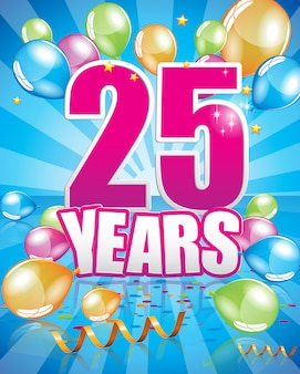 25-letnia kartka urodzinowa