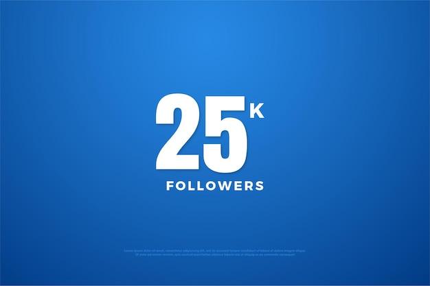 25 tys. obserwujących z prostą ilustracją projektu liczb