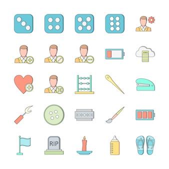 25 zestaw ikon uniwersalnego do użytku osobistego i komercyjnego ...