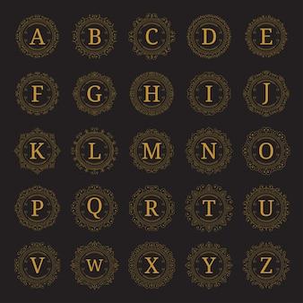 25 zestaw szablonu monogramu