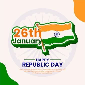 26 stycznia i dzień niepodległości flagi indii