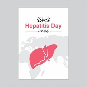 28 lipca światowy dzień hepatitis plakat szablon
