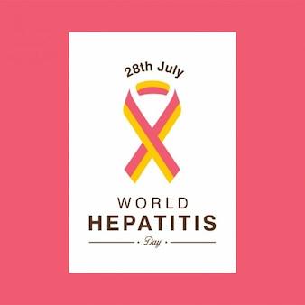 28 lipca światowy dzień hepatitis ribbon tle