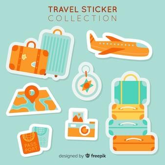 2d kolekcja naklejek podróżniczych