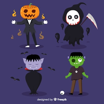 2d kolekcja postaci na halloween