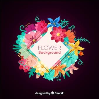 2d kwiatowy tło