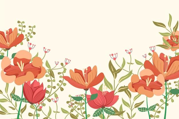 2d rocznika tapetą z motywem kwiatowym