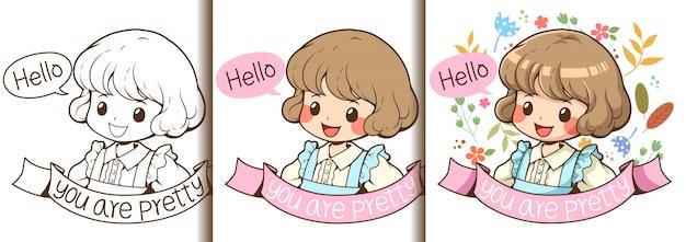 3 kroki, aby narysować dziewczynę