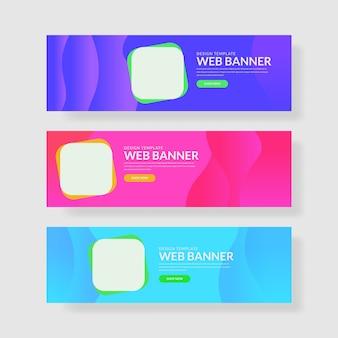 3 ustaw pastelowy sztandar kolorów interfejsu użytkownika. zaokrąglony kształt kwadratowy