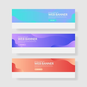 3 ustaw pastelowy sztandar kolorów interfejsu użytkownika