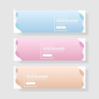 3 ustaw pastelowy sztandar kolorów