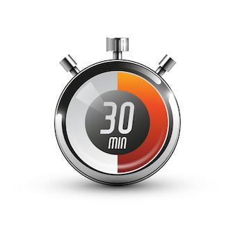 30 minut. ikona zegara. ilustracja wektorowa