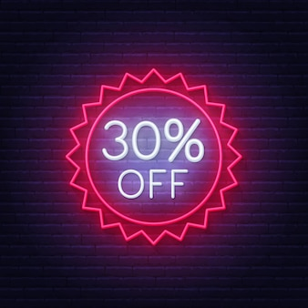 30% zniżki na neon