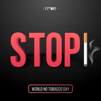 31 maja, światowy dzień bez tytoniu.