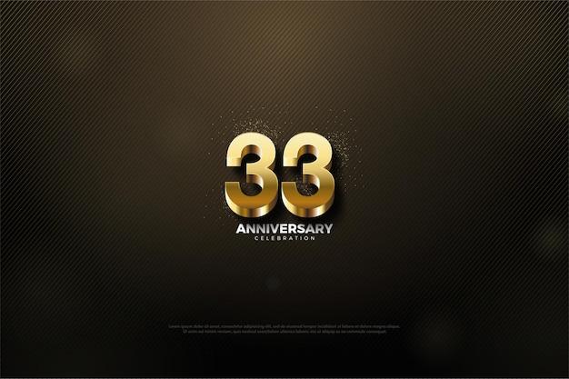 33. rocznica z luksusowymi złotymi numerami