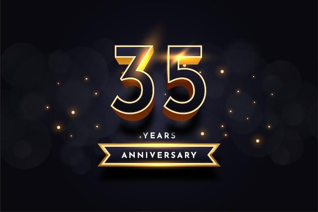 35 lat rocznica celebracja ilustracja szablon projektu