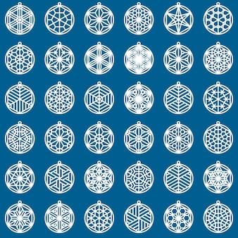 36 elementów wzorowanych na japońskim rzemiośle kumiko.