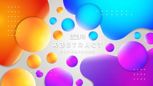 3d abstrakcjonistyczny kolorowy przepływ kształtuje tło