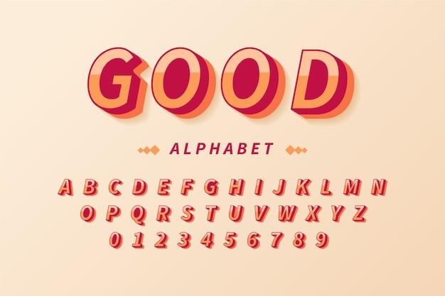 3d alfabet retro
