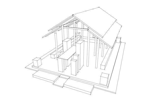 3d architektura wektor