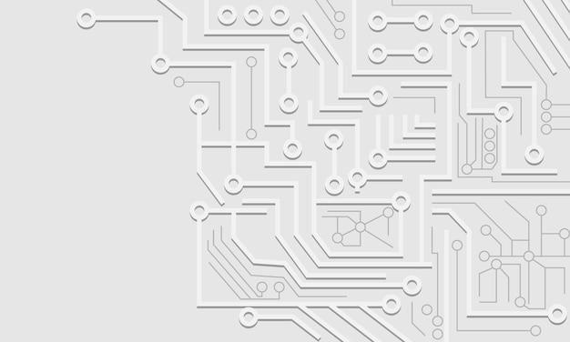 3d biały i szary streszczenie tło technologii cyfrowych. projekt banera.