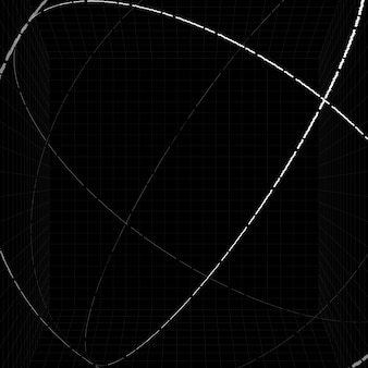 3d biały kontur sfera tło wektor