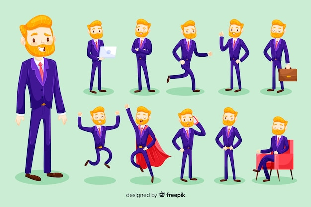 3d biznesmen charakter