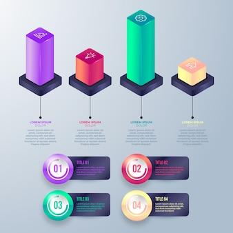 3d błyszczący infografiki