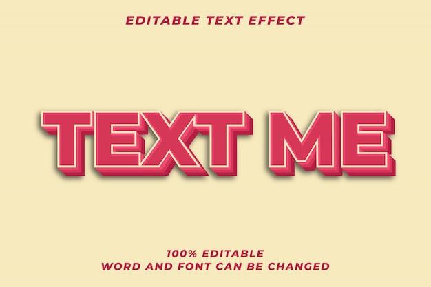 3d bold red styl tekstu efekt