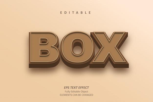 3d box brązowy efekt tekstowy edytowalny