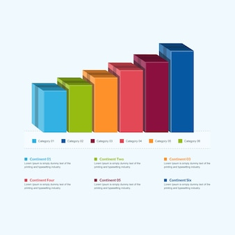 3d business infographic wykres słupkowy z elementami wzrostu sprzedaży