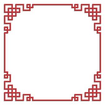 3d chińczyka wzoru ramy wektoru granicy sztuki porcelany styl