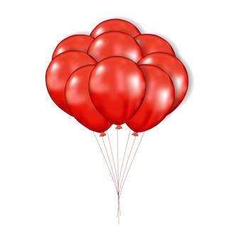 3d czerwony balon