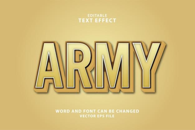 3d edytowalny efekt tekstowy armii
