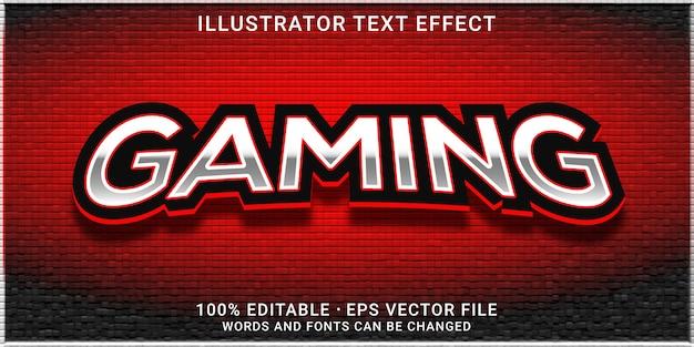3d edytowalny efekt tekstowy - styl gier