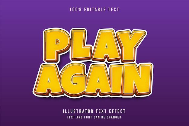 3d edytowalny efekt tekstowy żółty gradacja pomarańczowy czerwony styl gry