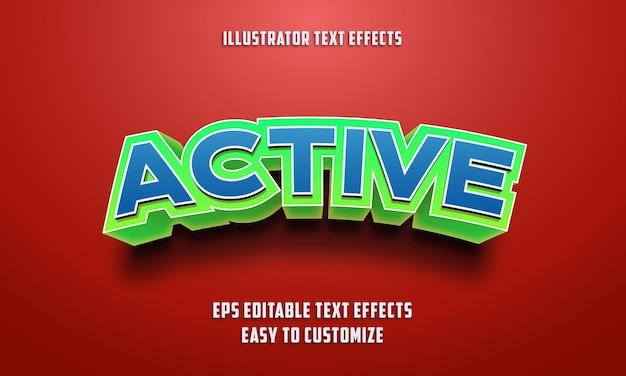 3d edytowalny styl efektów tekstowych