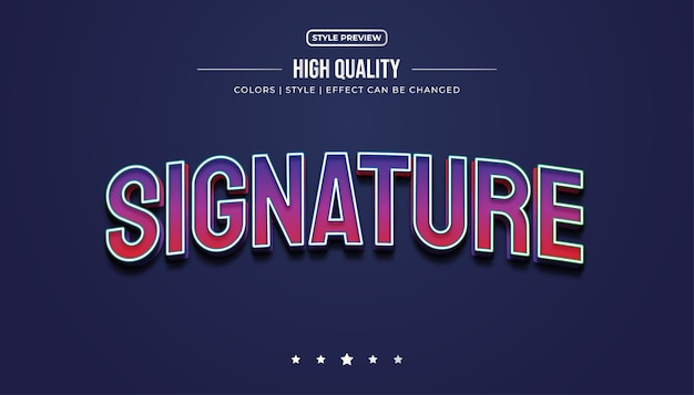3d efekt stylu kolorowego tekstu dla tożsamości zespołu e-sport lub nazwy logo