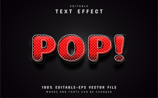 3d efekt tekstowy czerwony pop-art