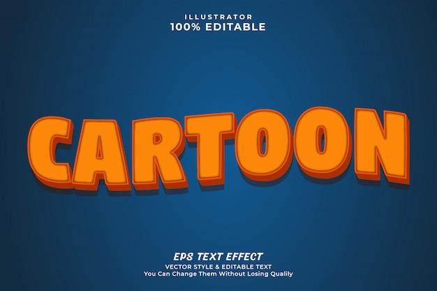 3d efekt tekstowy kreskówka, pogrubiony styl edytowalny efekt