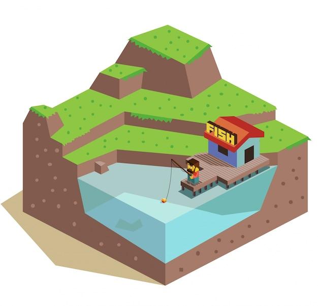 3d fishing hut