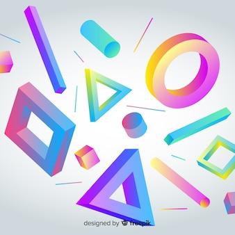 3d geometryczne kształty tło