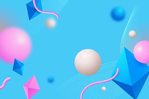 3d geometryczne kształty stron docelowych