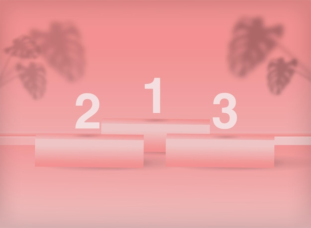 3d geometryczne pastelowe różowe podium minimalna scena sceniczna do lokowania produktu