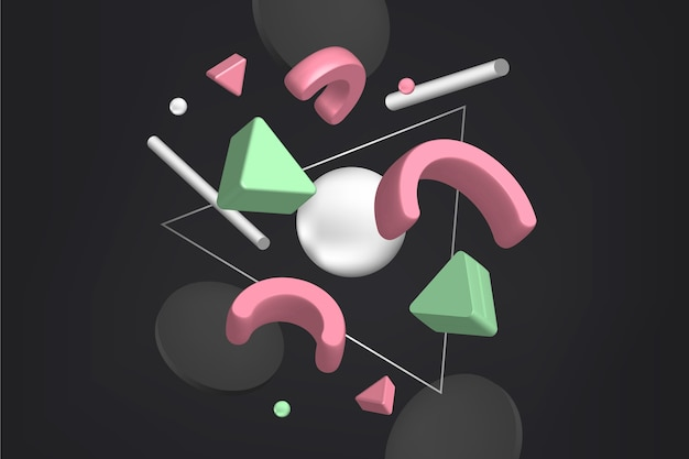 3d geometryczne tło