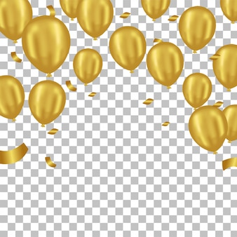 3d golden balloon party