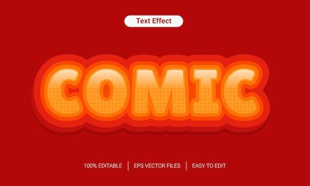 3d gradientu komiksowej zabawy stylu tekstu efekt